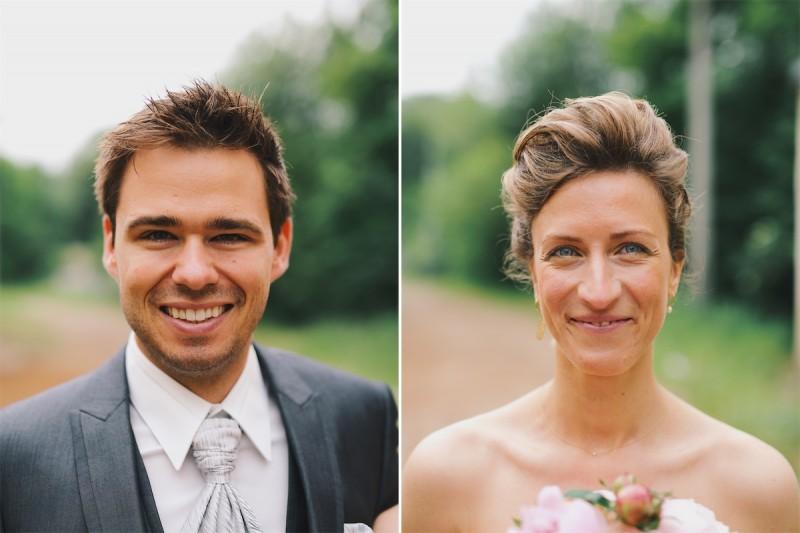portret van de bruid en bruidegom