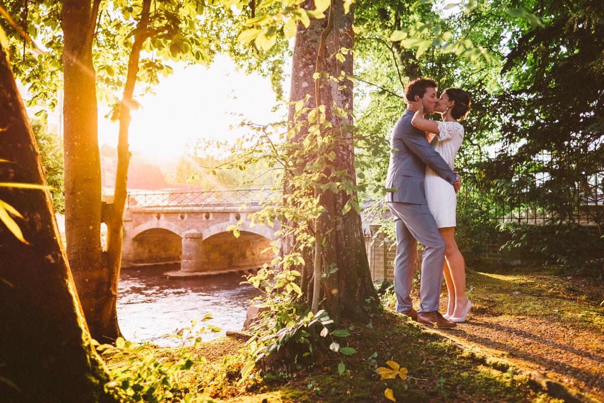 zonsondergang huwelijksfotograaf paris