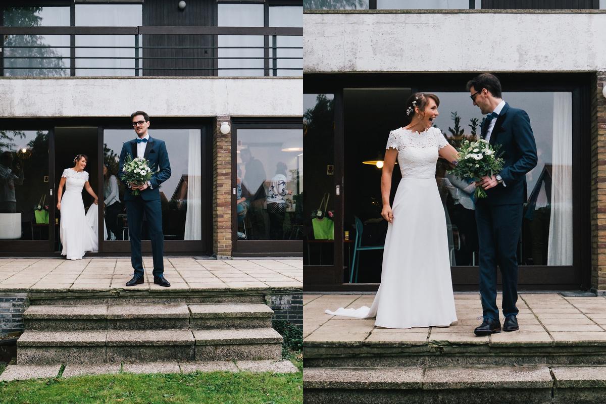 first look moment met de bruid en bruidegom