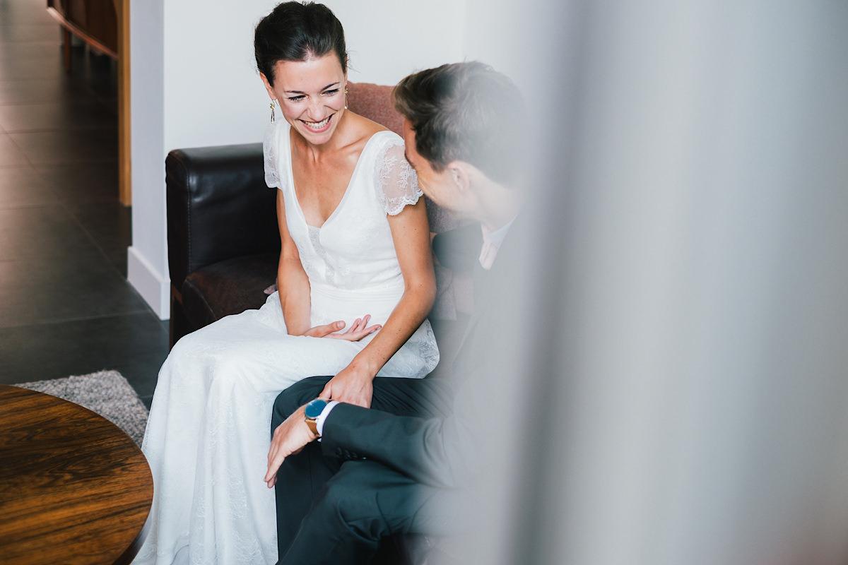 bruid knap lach