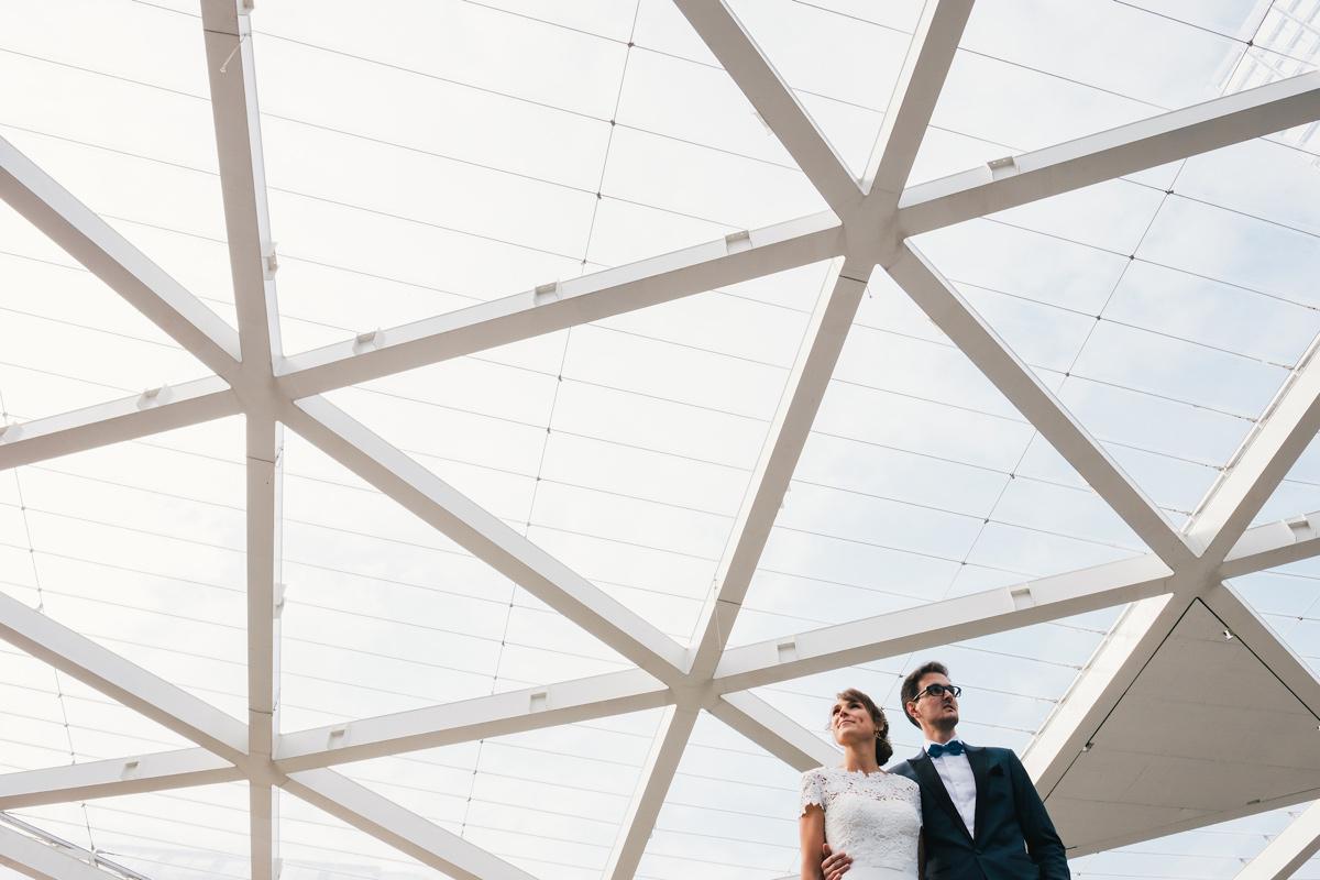 huwelijksfoto's architectuur