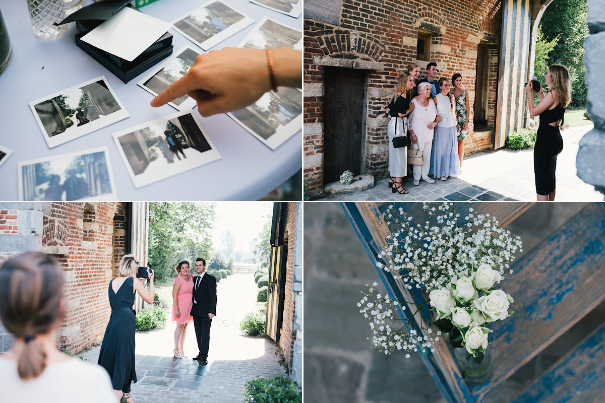 huwelijks ceremonie polaroids