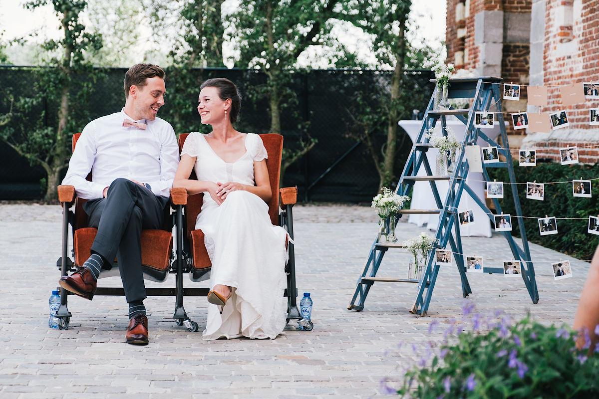 bruid en bruidegom huwelijks ceremonie