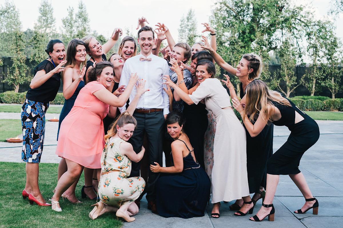 Grappige Groepsfoto's huwelijk dames
