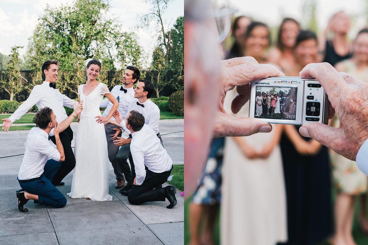 Grappige Groepsfoto's huwelijk