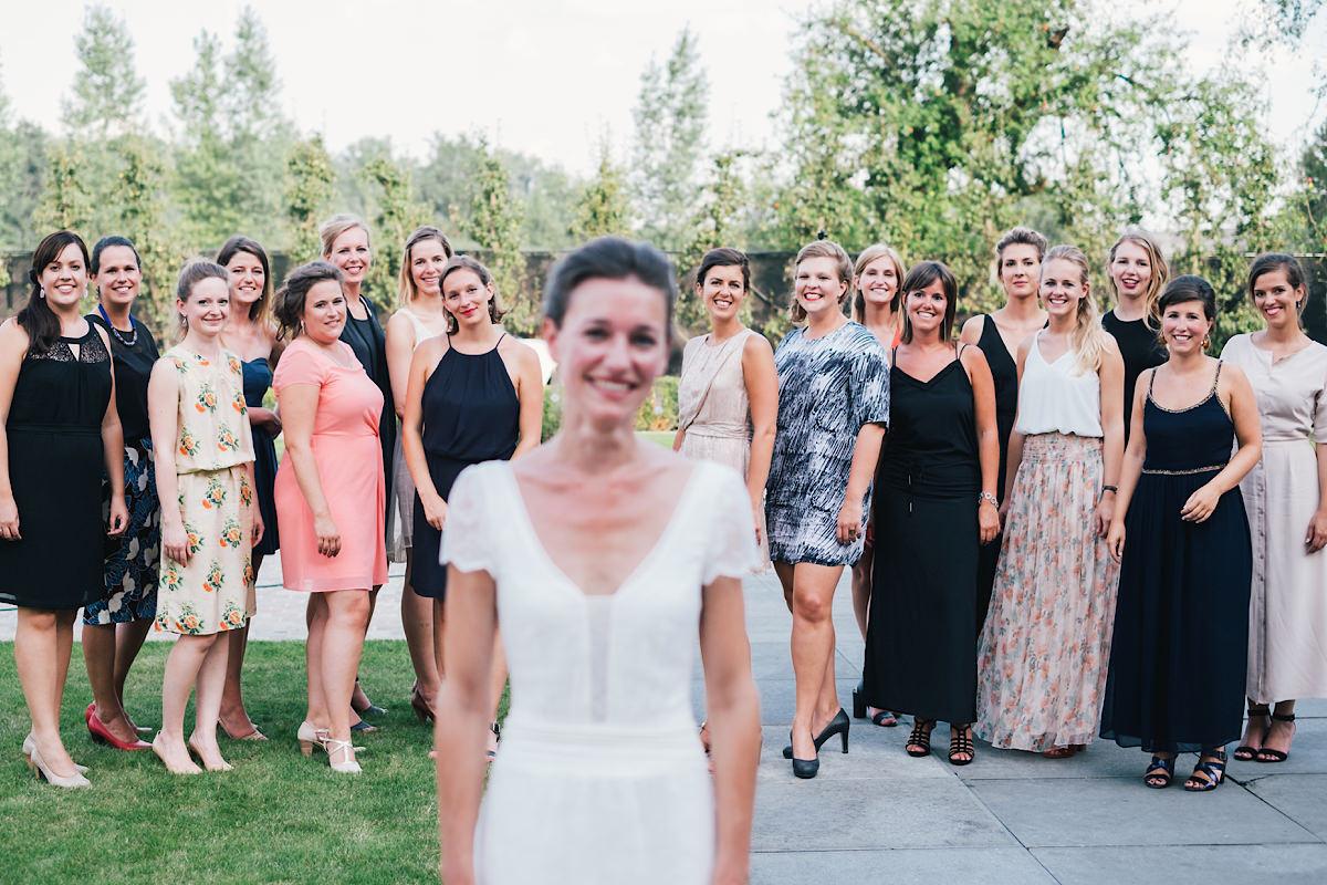 Groepsfoto met vriendinnen