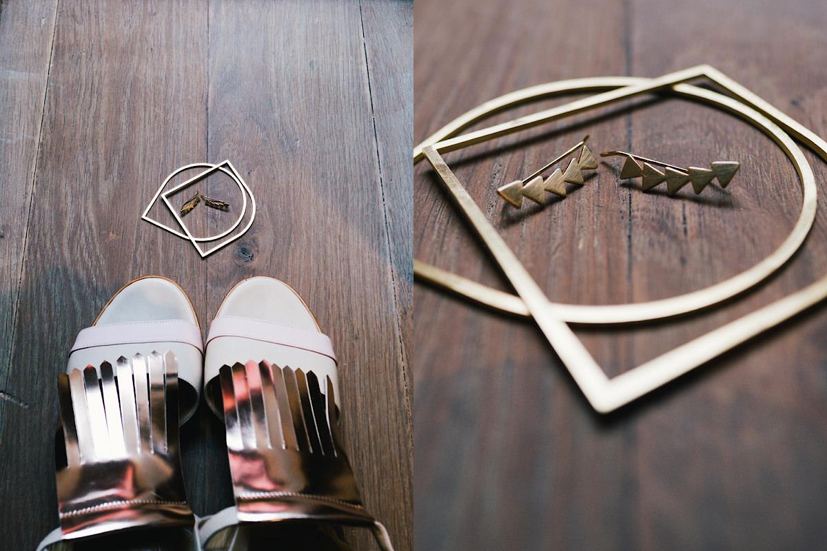 schoenen en accessoires van de bruid