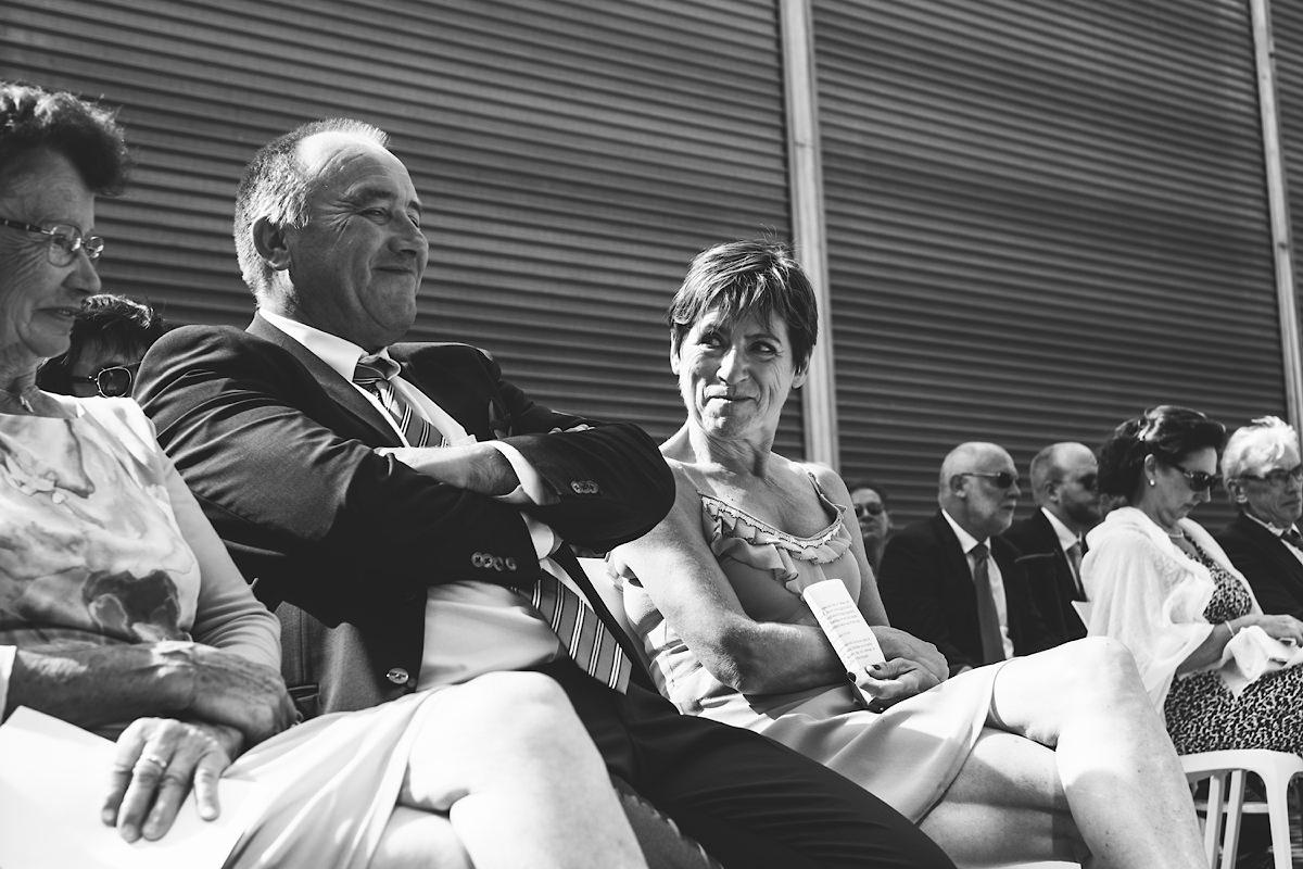 ouders van de bruidegom zijn trots
