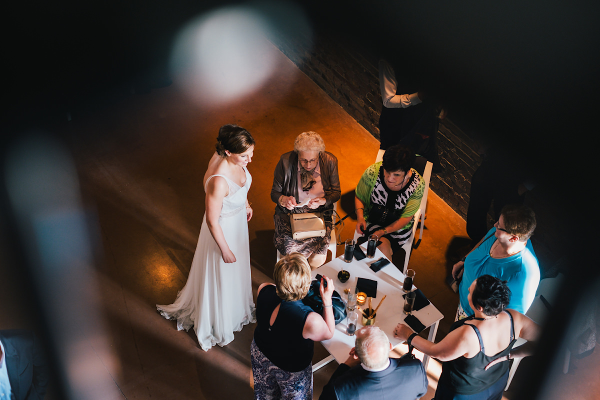 de receptie op een trouwdag