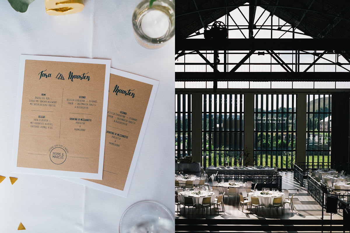 menukaarten en drukwerk huwelijksdag