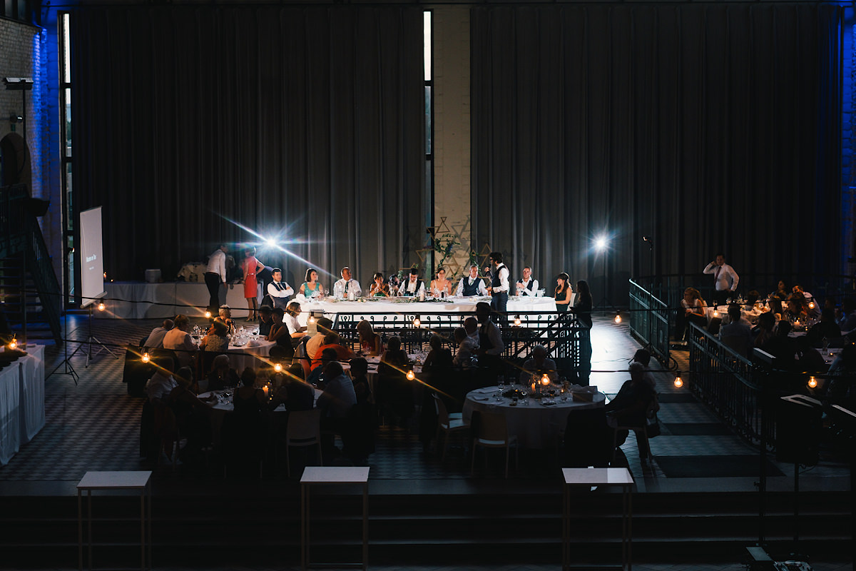 het avondfeest bruiloft