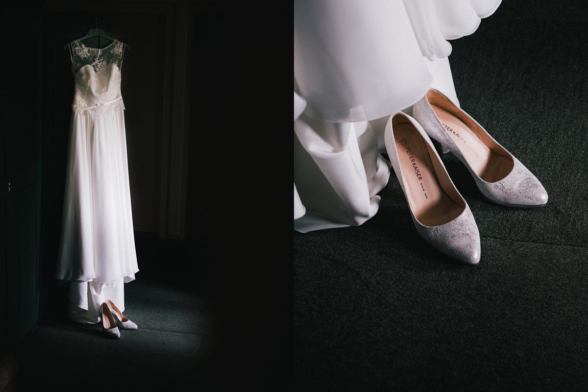 trouwkleed en schoenen
