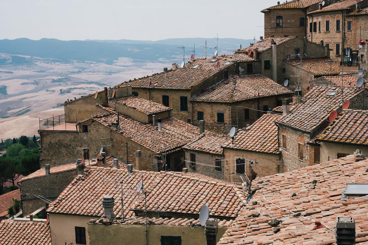 Landschap Voltera Toscane Italië.