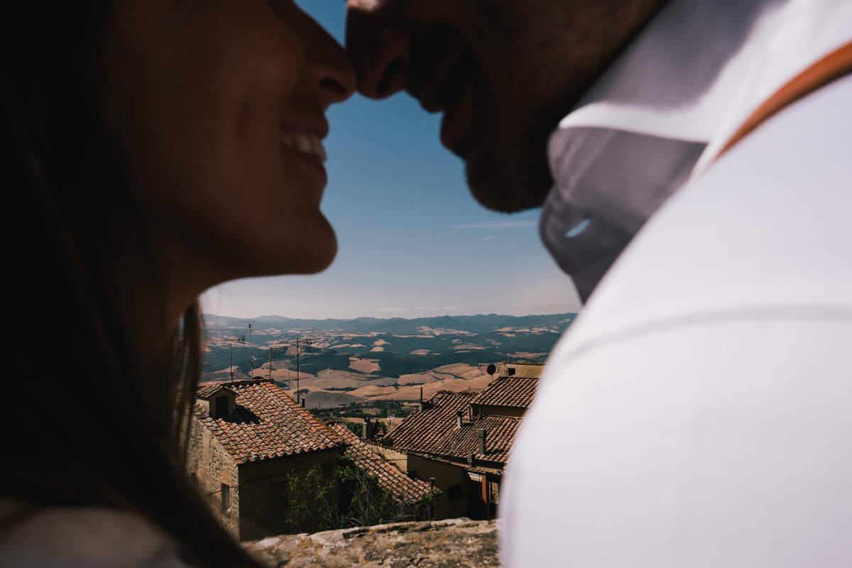 Landschap huwelijk Voltera Toscane Italië.