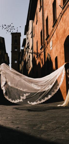 De straatjes van Voltera Italië.