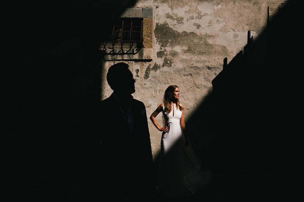 De straatjes van Voltera Toscane Italië.