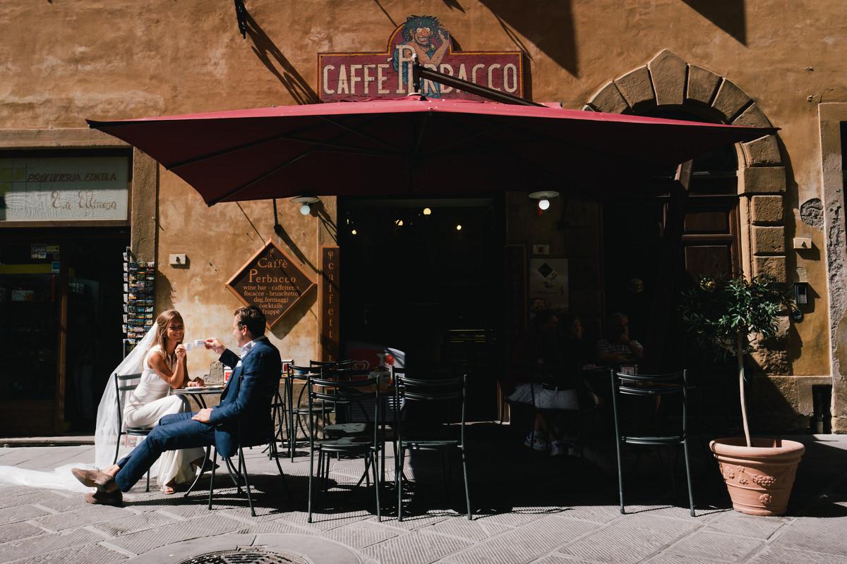Een koffietje in Voltera.