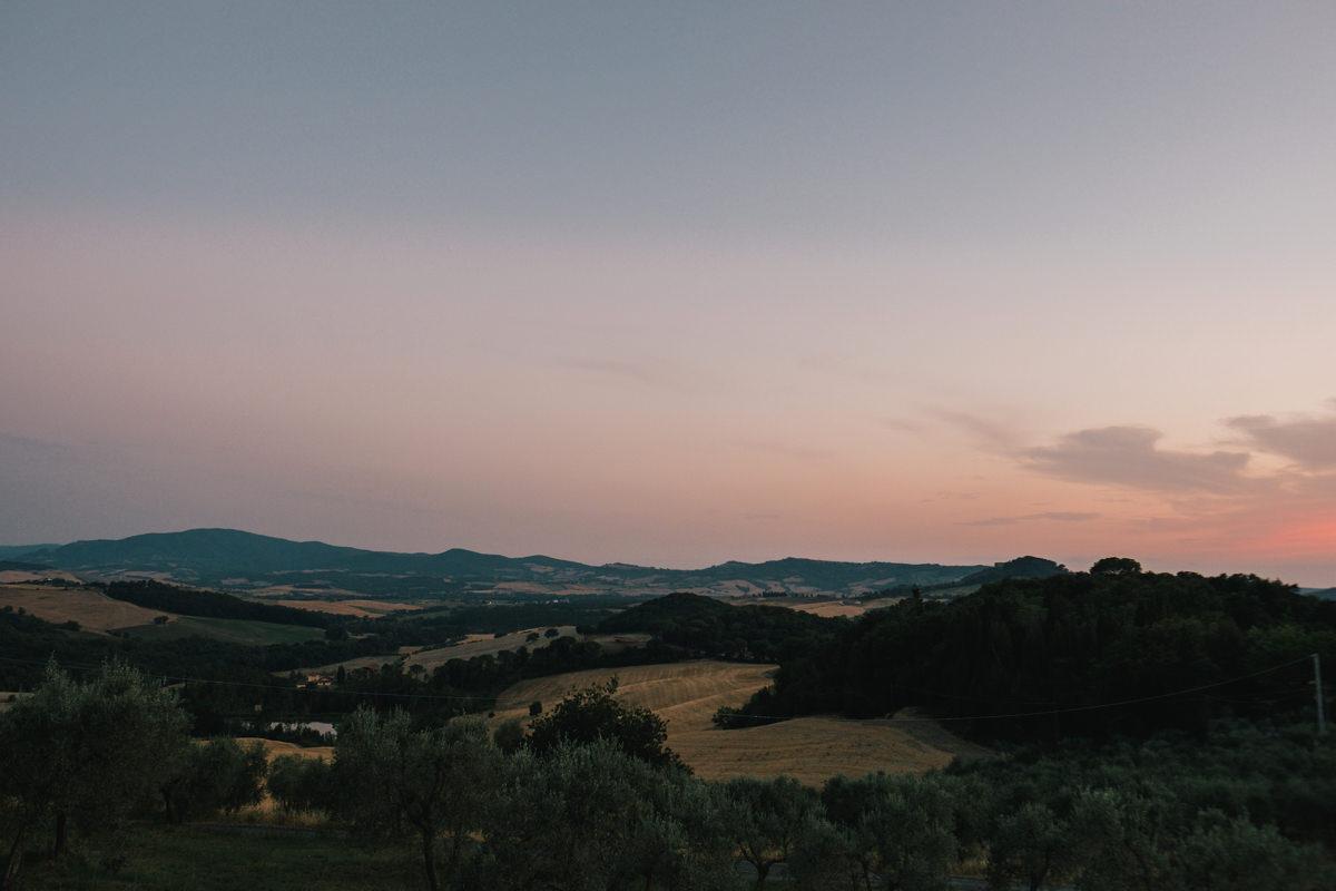 Landschap van Toscane Italië.