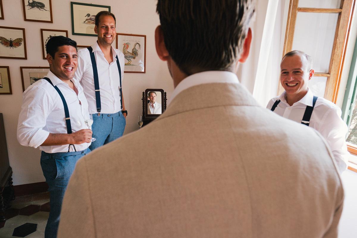 Bruidegom met zijn getuigen