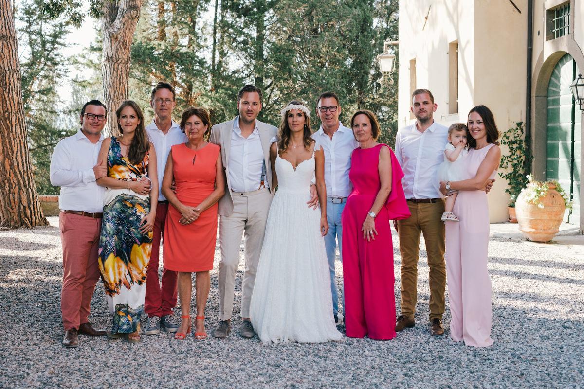 groepsfoto's gezin trouw intalië