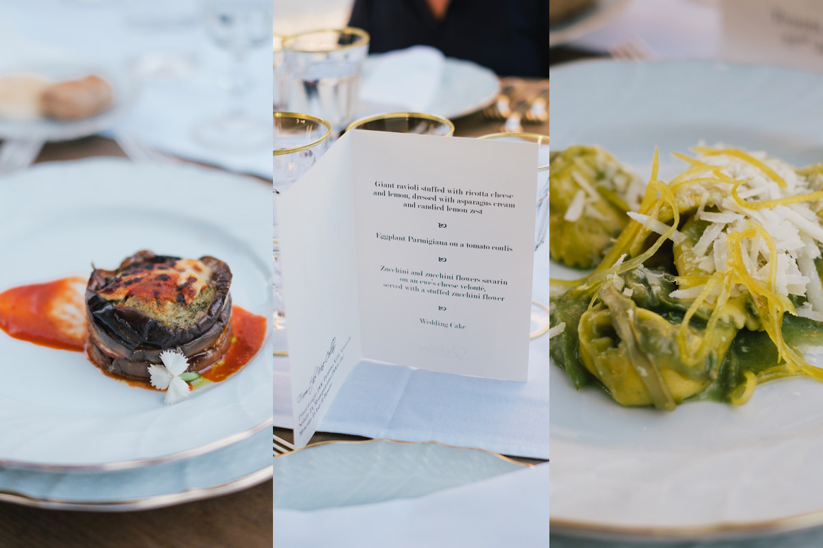 Lekker Italiaans eten op het huwelijksfeest