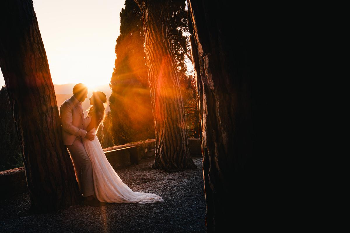 Zonsondergang Italië huwelijk